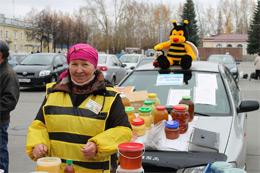На главной площади Озерска можно было сделать выгодные покупки