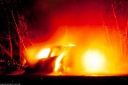 Сгорел автомобиль Владимира Бровцева