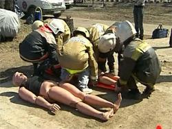 Учения поисково-спасательной службы